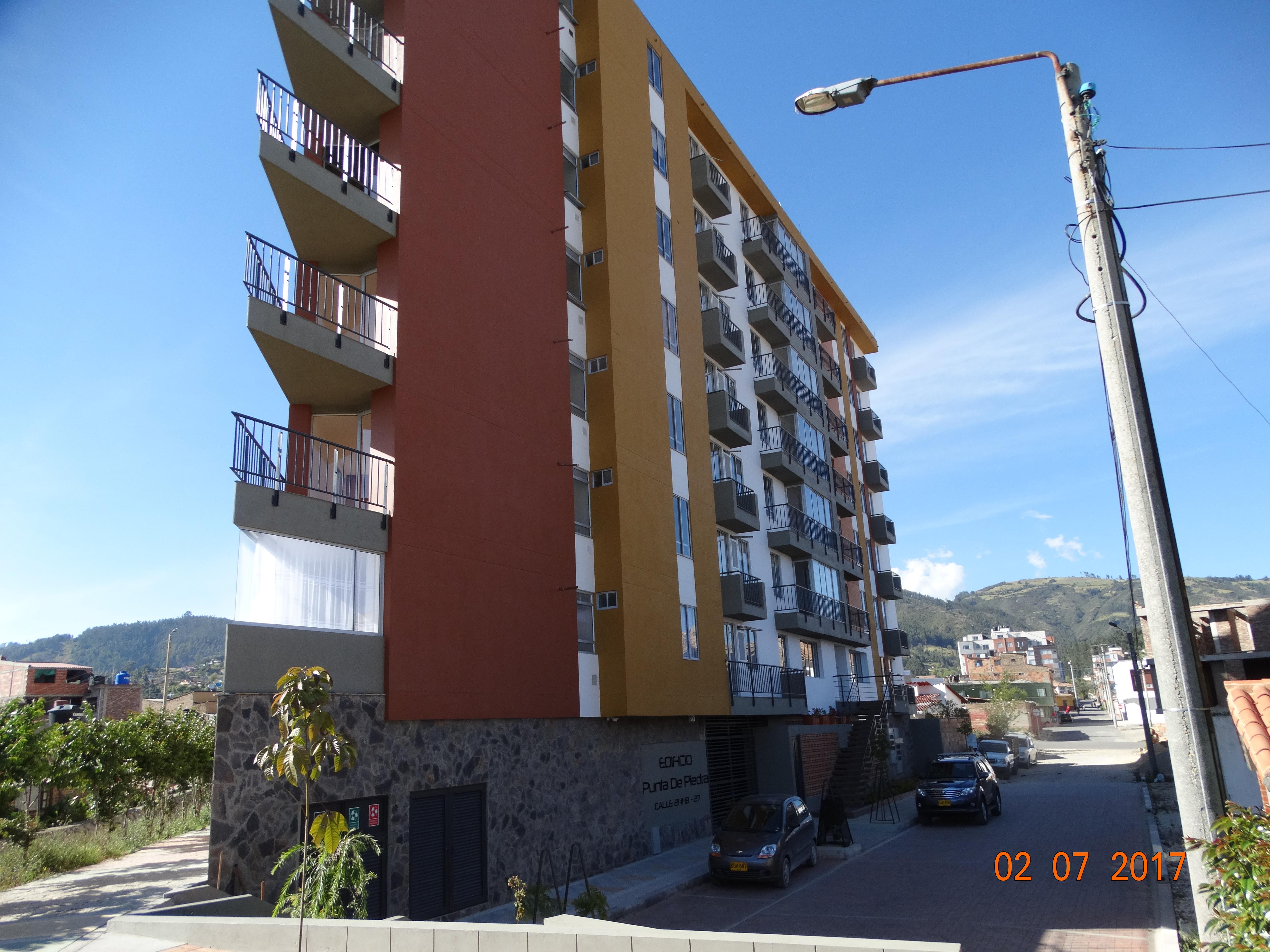 Visual de fachadas del edificio