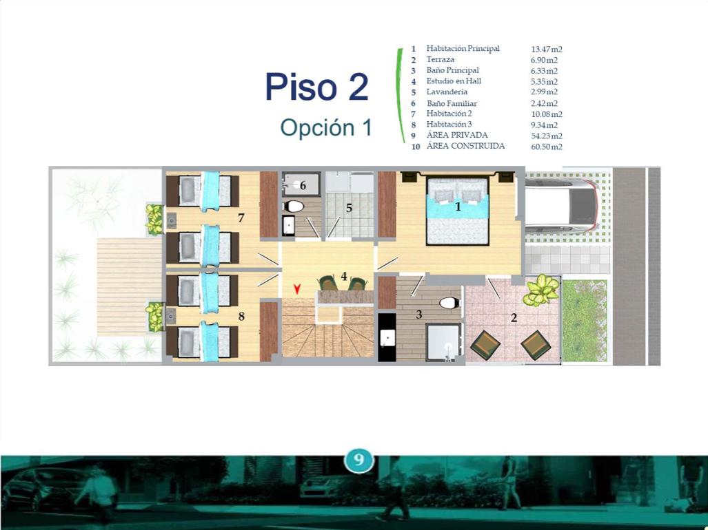 Casas del Río Ficha 2 Casa Tipo 1 Plano Piso 2 I9